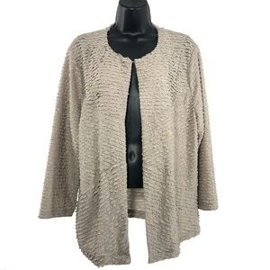 Travelers Collection By Chico's Ruffle Jacket Gold